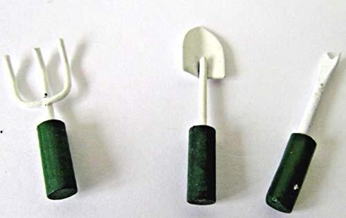 Mini-Gabel und Pflanzschaufel und Unkraut Extras-Fairy Garden Tools, aus Holz und Metall