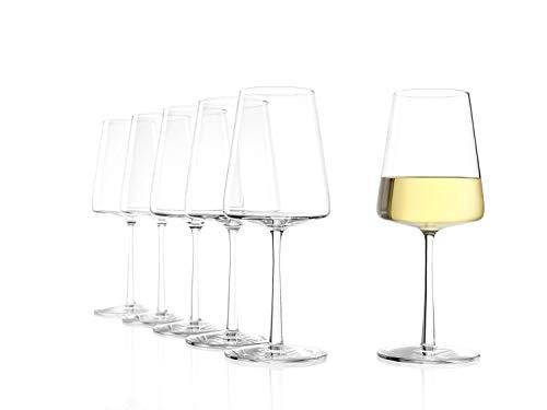 Stölzle Lausitz Power Weißweinkelch 402 ml, 6er Set Weißweingläser, spülmaschinenfest, bleifreies Kristallglas, hochwertige Qualität, elegant und bruchbeständig
