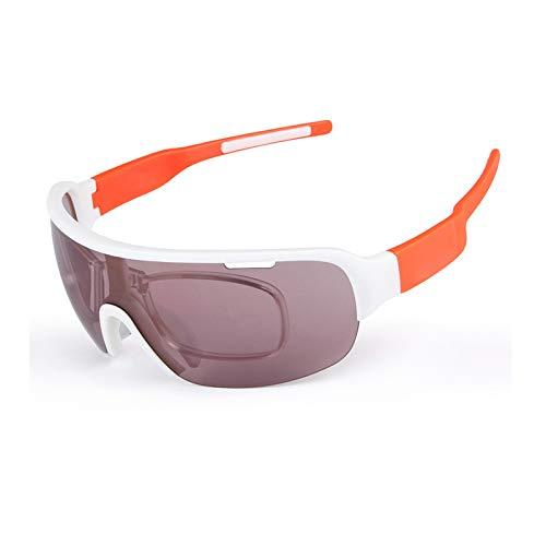 KnSam Winddicht Uv-Beständig Taktische Schutzbrille Kratzfester Scheibe Panoramablickfeld Weiß & Orange Schutzbrille