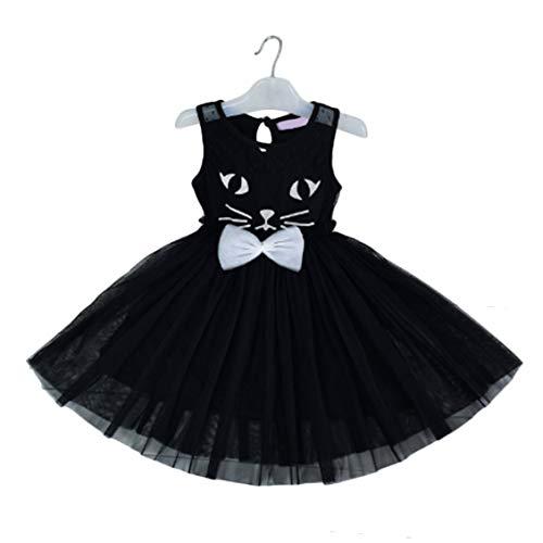 Mode Kinder Sommer Katze Muster Kinder Mädchen Formale -