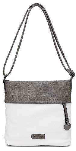 CASAdiNOVA ® Damen Handtasche Klein   Damenhandtasche Weiß   Schultertasche Schwarz  Umhängetasche   Crossbody   Messenger Bag   Shopper Tasche
