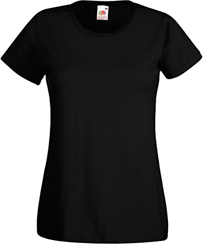 Fruit of the Loom - Lady-Fit Valueweight T - Modell 2013 L,Black