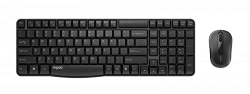 Rapoo X1800S drahtlose optische Maus und Tastatur, 2,4 GHz-Funkverbindung, 1000 DPI-Sensor, Multimedia-Hotkeys, bis zu 12 Monate Batterielaufzeit, schwarz