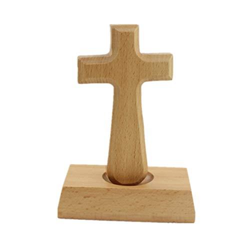 Vosarea Kreuz Figur Stehendes Holz Christliches Katholisches Kruzifix Ornamenten