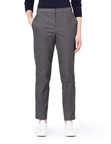 MERAKI Pantalones Rectos Mujer, Gris (Marl Charcoal), 48 (Talla del fabricante: XXX-Large)