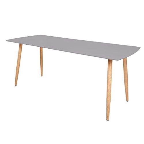 Zons Stockholm Tisch ausziehbar 140/180x 80x H75cm grau