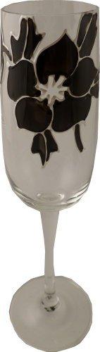 Rose Flûte à champagne Noir