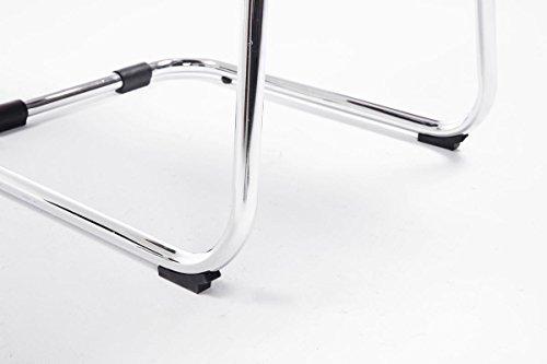 CLP Besucher Freischwinger-Stuhl BASEL V2 mit Armlehne, gepolstert creme - 8