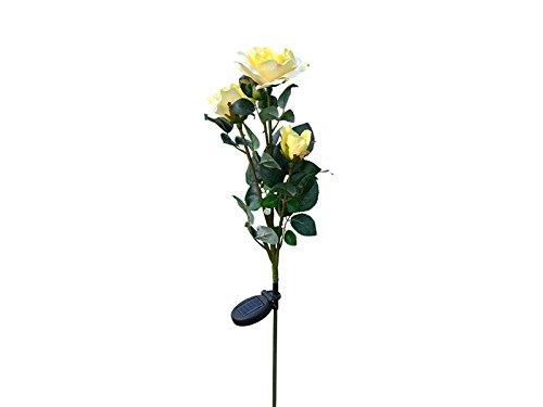 (Plsonk Dekoration Solar Rose Licht LED Blume String Rasen Lampe USB Lade Farbe Terrasse Lampe Künstliche Blumen für Home Backyard Für die Dunkelheit)