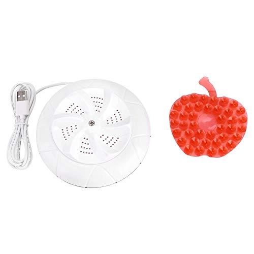 Fditt Mini Portatile USB della turbina di ultrasuono della Lavatrice per la Pulizia del Panno della Famiglia di Viaggio(White)