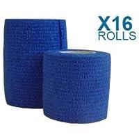 Haftbandage/Selbsthaftende Bandage, blau 7,5cm x 4,5m 16Stück preisvergleich bei billige-tabletten.eu