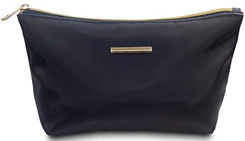 TRAVANDO ® Schminktasche schwarz | Kosmetiktasche klein für Pinsel Aufbewahrung | Make Up Tasche | Beauty Bag für Kosmetik | Schminkbeutel für Makeup | Kosmetikbeutel | Cosmetic Bag für Damen