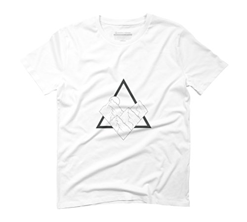 Triangle Mountain Men's Graphic T-Shirt - Design By Humans White