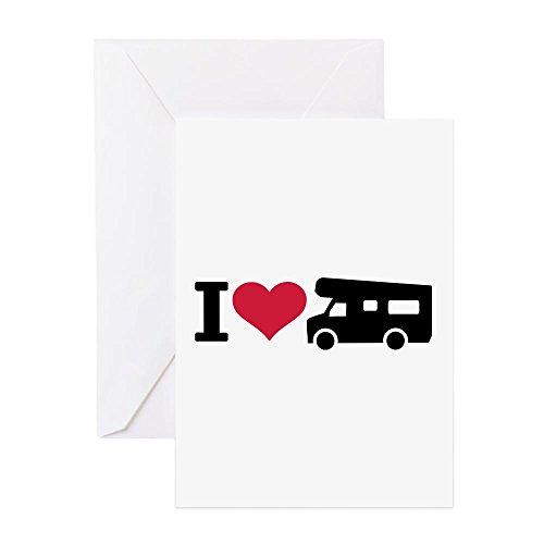 CafePress–I love Camping–Camper Grußkarte–Grußkarte, Note Karte mit Innen blanko,, Geburtstag Karte oder besonderen Anlass Note Card merhfarbig