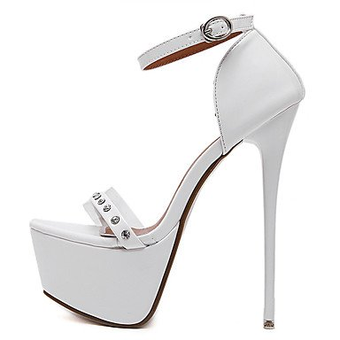 LvYuan Da donna-Sandali-Formale-Club Shoes-A stiletto-Finta pelle-Nero Bianco White