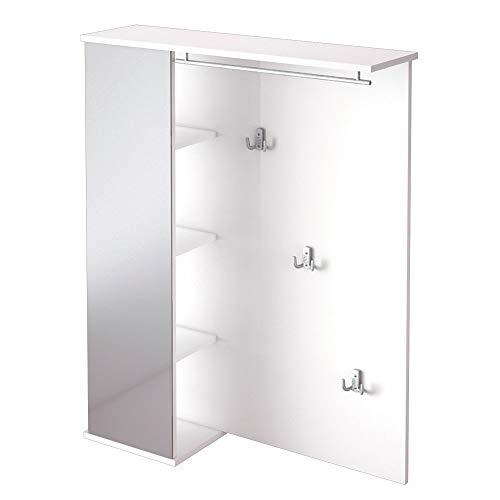 Schildmeyer Sydney 127869 Garderobe, 90 x 113 x 24,5 cm, weiß