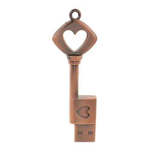 D dolity disco di memoria del bastone di forma di chiave del cuore di memoria dell'azionamento di chiavetta usb di 16gb usb per il pc