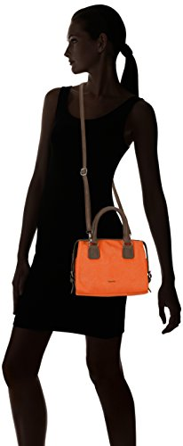 Tamaris NANCY 1062142-365, Borsa modello bowling Donna Arancione (Orange (rust 365))