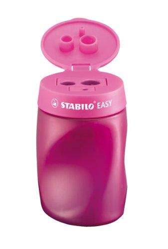 Dosen-Spitzer - STABILO EASYsharpener - 3 in 1 - pink - 6er Pack - für Rechtshänder