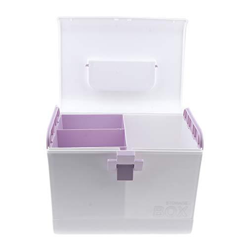 Homyl Medizin-Box Erste Hilfe Koffer Aufbewahrungsbox Medikamentenbox Arzneimittel-Box Medizinbehälter mit Tragegriff - Lila
