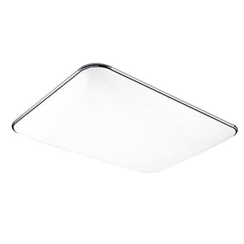 SAILUN 96W Warmweiß LED Deckenleuchte Ultraslim Modern Deckenlampe Flur Wohnzimmer Lampe Schlafzimmer Küche Energie Sparen Licht Wandleuchte Farbe Silber -