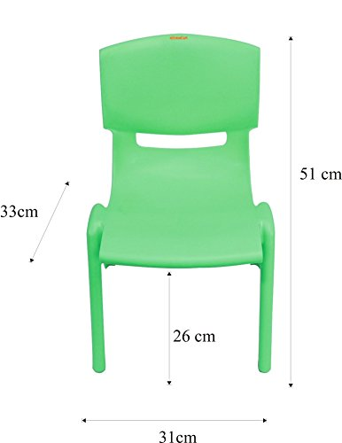 Playgro Multicoloured Kids Plastic Tablle (60 x 60 x 53cm) and 4 Chairs Set (Colour May Vary)