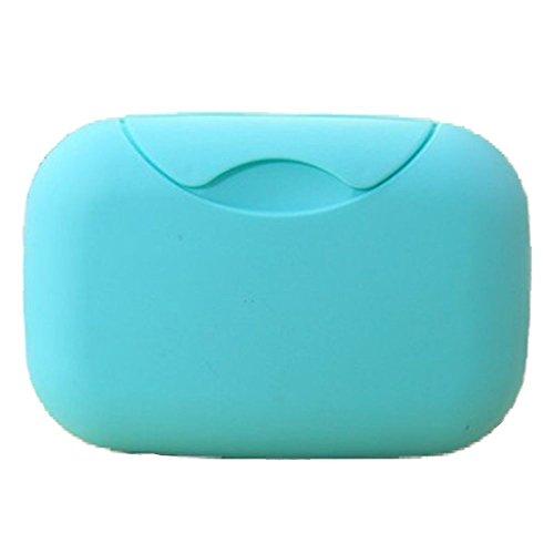 LYEP Grande Porte-savon imperméable Créatif avec fermeture - truc salle de bain - 4 couleurs (bleu)