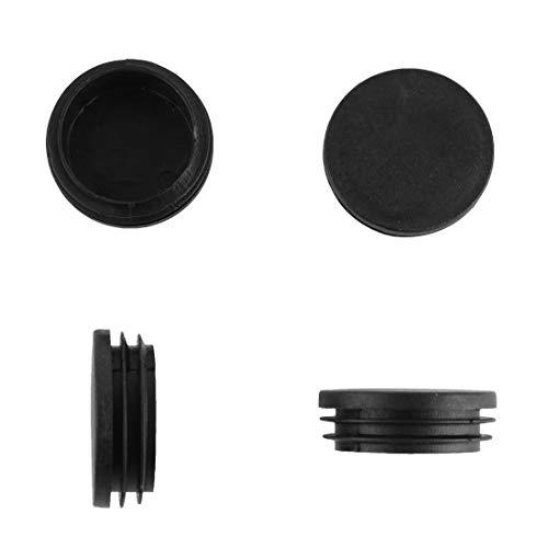 EPR150-M 4 piezas NEGRO ajile di/ámetro 50 mm Contera redonda acanalada para tubos