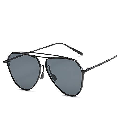 ZJWZ KoreaNische Metal-Sonnenbrille, hochwertige Bunte Sonnenbrillen, Herren-und Damen Sonnenbrille, Gedächtnis Strahl Spiegel,C6