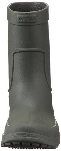 Crocs Allcast Rain Boot Men, Stivali di Gomma Uomo Grigio (Dusty Olive/dusty Olive)