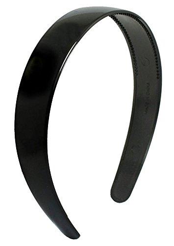 niceeshop(TM) Frauen Damen Rutschfeste Kunststoff Haarband Breit Grundstirnband mit Den Zähnen, Schwarz