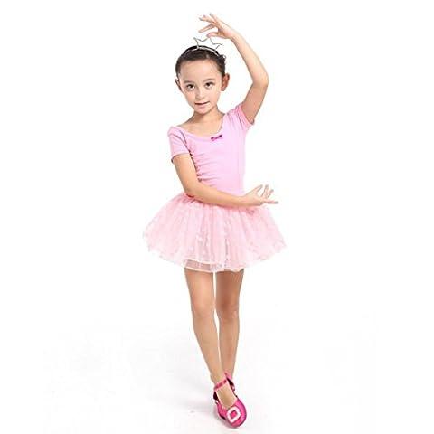 ESHOO Girls Sweet Princess Dot Bow Party Tutu Dress Skirt Ballet Dance Leotards