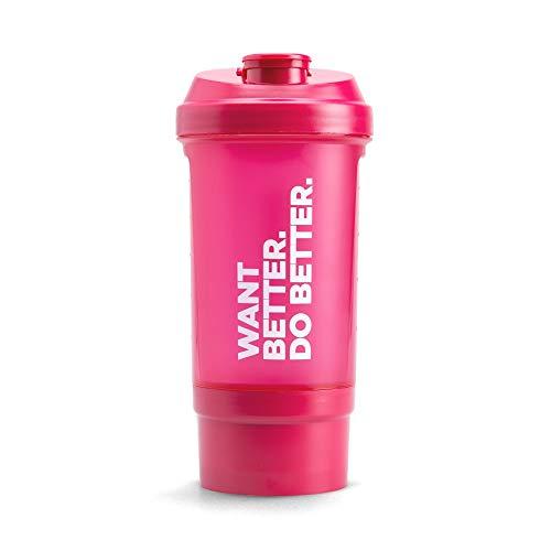 Prozis Want Better. Do Better. Shaker mit Kammer 500 ml - Rosa - Single Size