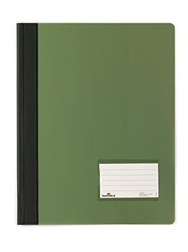 DURABLE Hunke & Jochheim Schnellhefter DURALUX®, transluzente Folie, für A4 Überbreit, 280x332mm, grün