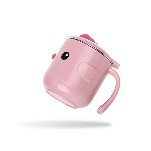 MITAOBaby Isolierschüssel Besteck Kinder Baby Wassereinspritzung Füttern Lebensmittel Tropfen Gabel Löffel Saugnapf 18 * 11 cm