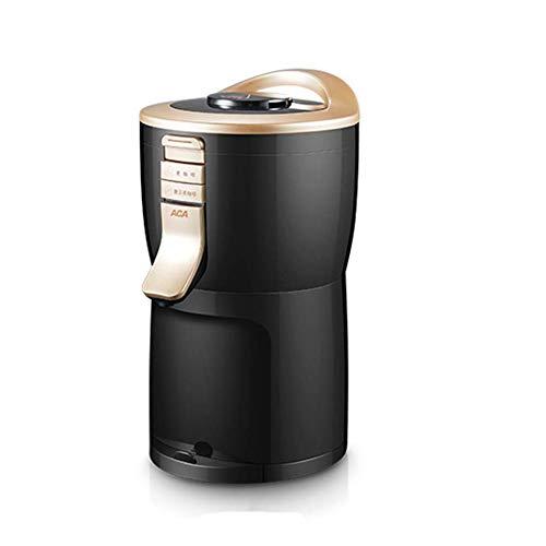 BaRuXi Das Volumen Beträgt 132x234x167mm, Tragbare Kleine Automatische Mini-zweifachschleifmaschine/Pulver-kaffeemaschine Die Kapazität Beträgt 200ml, Schwarz + Gold 1 Stück