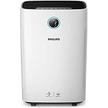 Philips AC 3829/60 Series 3000i 2-in-1 Purifier and Humidifier, Removes 99.97 Percent of Ultrafine Particles and Relieves Dry Air Discomfort, 1 W, White