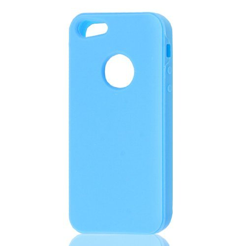 Sky Blue silicone beschermende Soft Case Skin Cover voor Apple iPhone 5 5G Iphone Sky Blue Skin