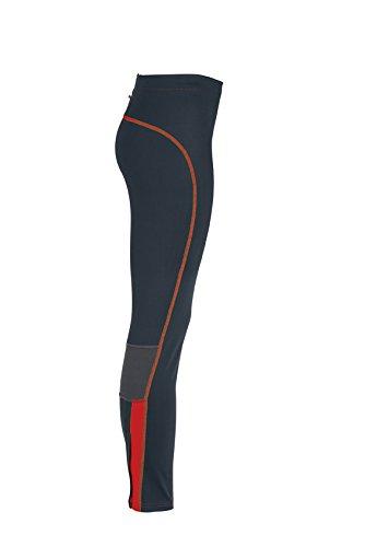 JAMES & NICHOLSON Ladies Running Tights - Pantalon de Maternité - Femme Rouge (Iron Grey/Grenadine)
