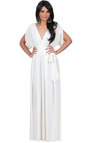 koh-kohr-femmes-robe-longue-elegante-manches-dolman-couleur-blanc-ivoire-taille-l-large