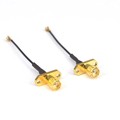 Antenne WiFi Pigtail Kabel SMA Buchse Panel Mount zu UFL./ipx 1,13 Kabel 5cm für FPV Drohne RC Modell Multicopter 2 Stück Sma Female Panel