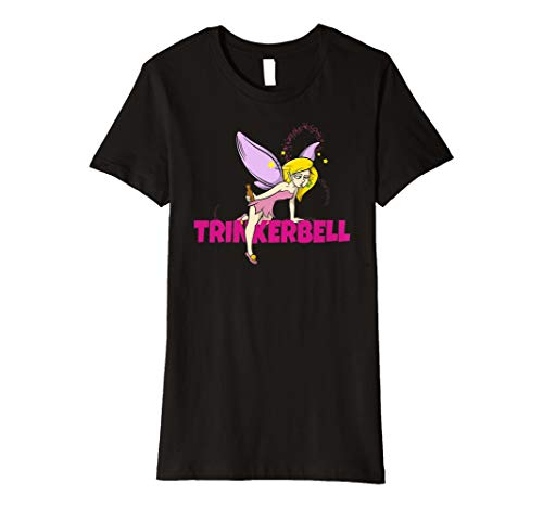 Schwarze Fee Kostüm Alle - Damen Trinkerbell T-Shirt Brautshirt JGA Team Shirts Fee Kostüm