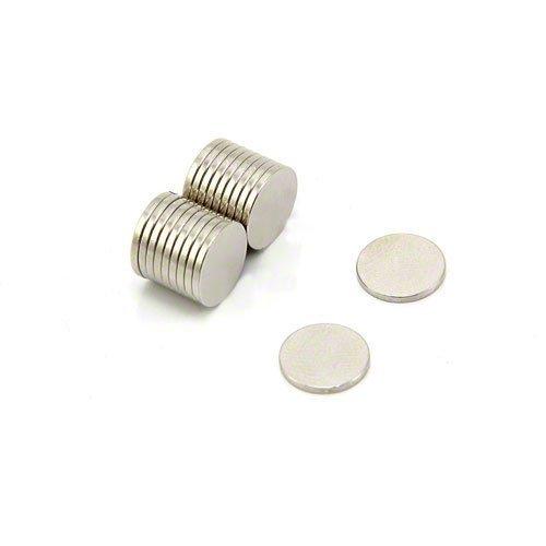 Magnet Expert Ltd - Magneti in neodimio ad alto grado di potenza N42, per artigianato, esposizioni e imballaggi, 0,5 kg, 10 x 1 mm (confezione da 20)