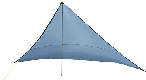 Grand Canyon Ray - Tarp / Sonnensegel / Biwak - Zelt, mit Aufstell-Stangen, wasserdicht und UV50 Schutz, für Camping, Trekking, Outdoor, Survival, blau, 302302