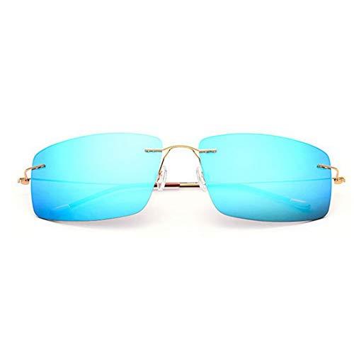 Yiph-Sunglass Sonnenbrillen Mode Männer polarisierte Sonnenbrille TR90 TAC Objektiv UV-Schutz Sonnenbrille für das Fahren zum Fahren Baseball Laufen Radfahren Angeln Golf. (Farbe : Gold)