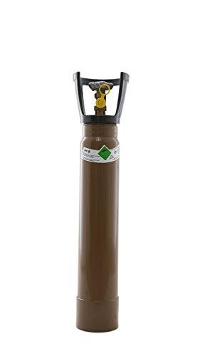 Preisvergleich Produktbild Ballongas 5 Liter Flasche mit Tragegriff / NEUE Gasflasche (Eigentumsflasche), gefüllt / 10 Jahre TÜV ab Herstelldatum / EU Zulassung - Globalimport