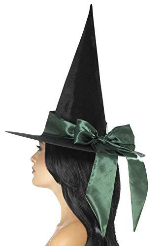 Smiffys 48023 Deluxe Hexenhut, Schwarz, Einheitsgröße (Baby Deluxe Halloween Kostüme)