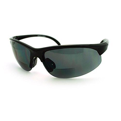 JuicyOrange Sonnenbrille mit Bifokalwillen Leselinse halb Rande Sport Fashion (2.0) 2 73 schwarz groß Schwarz