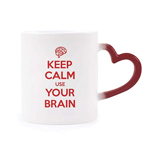 Taza keep calm and use your brain