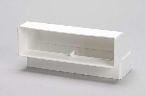 Naplesuk 204mm x 60mm piatto rettangolare canale condotto verticale ° bend-plastica bianca